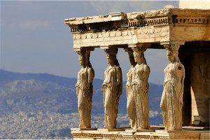 Porch of the Caryatids at the Erechtheum