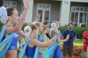 Для гостей из Индии танцует ансамбль Нартаки (Кореиз)